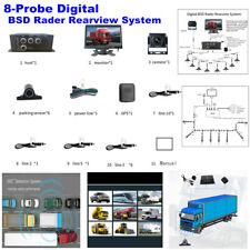 Digital BSD Rader Rearview System 8-Probe Digital Radar +AHD Display +Camera Kit