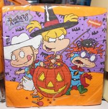 16 VINTAGE NICKELODEON RUGRATS HALLOWEEN LUNCHEON NAPKINS NEW PARTY SUPPLIES