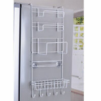 Over Door Storage Kitchen Basket Spice Rack 6 Tiers Pantry Closet  Fridge Holder
