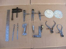 Lot Vintage Moore & Wright Engineers Tools Square Guage Dividers Calipers Clamp
