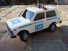 USSR TOY LADA VAZ 2121 CHEVROLET CHEVY NIVA SOVIET RUSSIAN POLICE PATROL 1:18