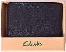 CLARKS Men's CLK Passcase Billfold Wallet (Black) >NEW<