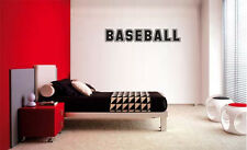BASEBALL DECAL WALL VINYL DECOR STICKER ROOM SPORTS BASEBALL Decal Kids Room
