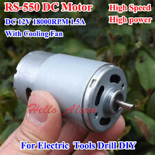 For RS-550 DC Motor 12V 18000RPM High Speed Power DIY Drill Electric Tools Model