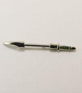 New NIPPLE BARBELL - SWORD - PERIDOT - Australian Seller - H1734