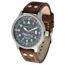 Relojes de pulsera de cuero con cronógrafo de mujer