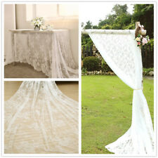 """White Lace Tablecloth Wedding Banquet Table Cloth Rectangle Party Decor 59x118"""""""