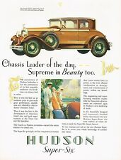 1928 BIG Original Vintage Hudson Custom Victoria Car Automobile Art Print Ad