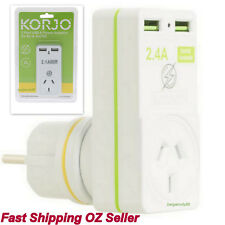 2 ports EU Asia Bali USB Wall Charger Europe AU Power Adapter for iPhone Samsung