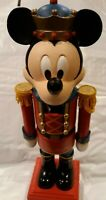 "VTG  RARE!! Disney Mickey Mouse Wooden Nutcracker 10"" Vintage Christmas Soldier."