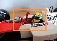 1:18 scale F1 Senna driver pilot figure 1988 Mclaren Mp4/4 gp replicas minichamp