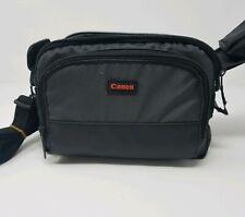 Canon Camera Bag Shoulder Nylon Black Multiple Slots Zipper