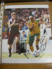 2006/2007 Autograph: Burnley - James O'Connor & Rob Earnshaw (Norwich City) [App