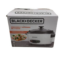 Black and Decker 6-Cup Rice Cooker and Steamer (Used few times) No STEAMER BASKE