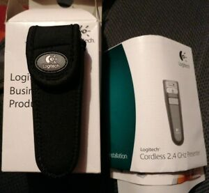 New Logitech R-RB5 Wireless Presenter with Laser Pointer, Case and USB Dongle