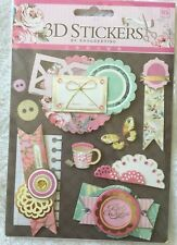 'Letters' 3D Paper Stickers Scrapbooking Embellishment Card making DIY craft