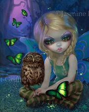 Jasmine Becket-Griffith art print season fairy butterflies owls SIGNED Summer