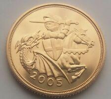 2005 Gold Full Sovereign in Capsule.