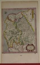 CALAIS DUNKIRK BOULONNOIS FRANCE 1595 MERCATOR ANTIQUE COPPER ENGRAVED MAP