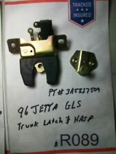 1996 VW Jetta GLS Trunk Latch Mechanism with Hasp  3A5827509  TESTED  OEM #R089