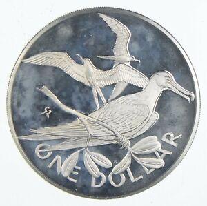 Roughly Size of Quarter 1973 British Virgin Islands 1 Dollar World Silver *358