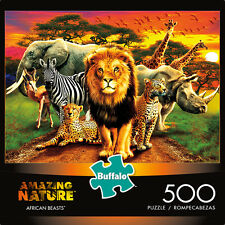 BUFFALO GAMES PUZZLE AMAZING NATURE AFRICAN BEASTS ANDREW FARLEY 500 PCS #3774