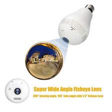 Security IP Camera 360 degree Panoramic 960P Hidden E27 Wifi Camera Light Bulb