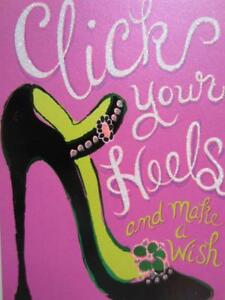 """""""Click Your Heels & Make a Wish!"""" A* Avanti Press FUNNY BIRTHDAY CARD Shoe Lover"""