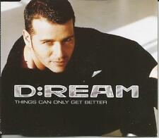 D:REAM Things Can only get Better 6 RARE MIXES CD Single SEALED USA Seller Dream