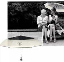 *new in box* Chanel VIP Umbrella w/ Black Protective Storage Bag SHW: authentic