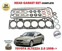 FOR TOYOTA ALTEZZA 2.0i 3S-GE 1998-2005 NEW HEAD GASKET SET COMPLETE