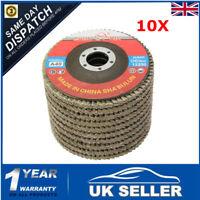 10x Flap Gringing Sanding Discs 115mm 40 Grit Aluminium 4.5'' Angle Grinder  *