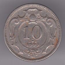 Austria-Habsburg 10 Heller 1893 moneda de níquel-Águila Imperial