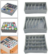 Drawer Dividers Closet Underwear Bra Fabric Socks Tie Tidy Storage UK Seller