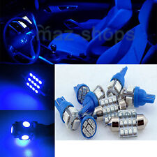12V Blue Interior LED Light Package 6PCS For 2008-2014 Mitsubishi Lancer Evo X