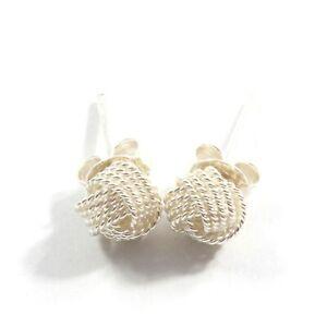 Knot Stud Sterling Silver 925 Earrings