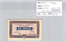 BILLET DE NÉCESSITÉ - FRANCE - NANCY - 1 FRANC - 1.1.1921  /  31.12.1923 - RARE*