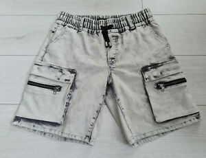 Tigha Herren Cargo Shorts  Vintage light Grey  Size M
