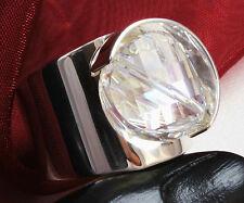 Design 925 Silber DAMEN RING mit SWAROVSKI Stein,Cristal Moonlight VERSTELLBAR !