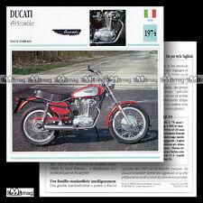 #067.01 DUCATI 450 SCRAMBLER 1974 Fiche Moto Motorcycle Card