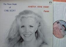Piano Music of Cyril Scott M. Anne Verbit LP Genesis GS 1049 NM