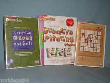 Creative Keepsakes Fresh Fonts, Creative Lettering Combo, Clips & Fonts Cd Roms