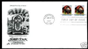 2912B (25c) Juke Box S/A coil, BEP,  ArtCraft FDC