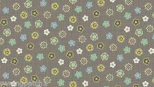 Bohemia Fabric Flower Heads Fabric  fat quarter cotton Makower 1658-S