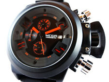 SUPERB Black Chronograph Military Steel Sport Welder Diving Style Boat Sub U TW