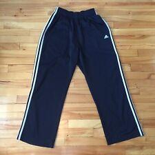 Adidas Track Suit Pants Sweatpants Black White 3 Line Three Medium M