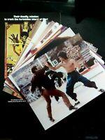 Bruce Lee very rare set of 13 original Enter the Dragon photos