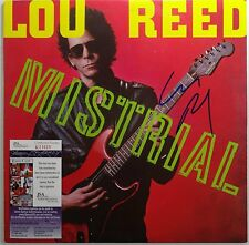 SIGNED LOU REED AUTOGRAPHED MISTRIAL VINYL LP W/PIC WITH JSA # R21629