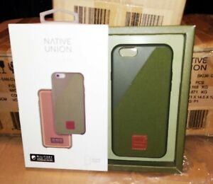 Native Union CLIC 360 Canvas Case For iPhone 6s 6 Olive.