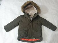 18-24 Months Boys Coat M&S thick winter fur lined (D)
